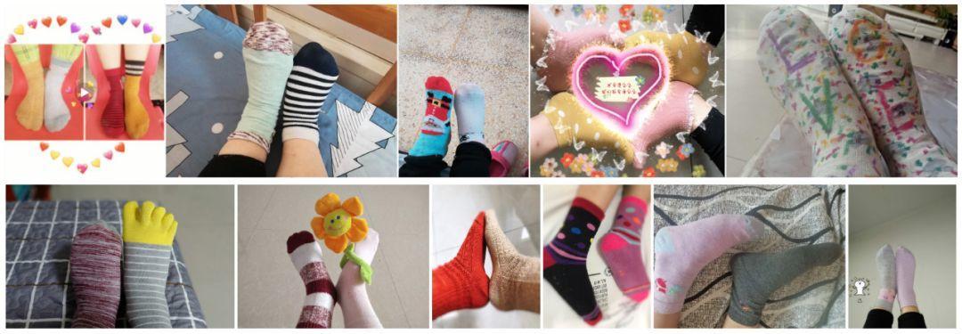 """3.21 - 蜜糖宝""""日,给你一个挑战,两只袜子"""